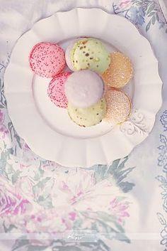 Pretty pastel macarons.