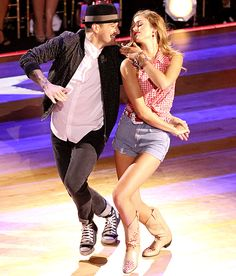 Mark Ballas and Sadie Robertson on Dancing With The Stars - expected to dislike this girl but she seems a nice person.