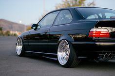 Nice shot of a black BMW e36 coupe