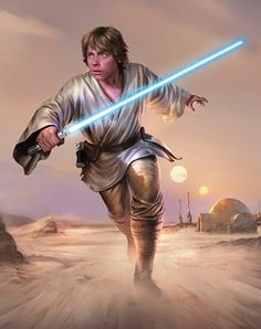 luke skywalker jedi newhope new hope episodeiv starwars star wars Star Wars Jedi, Luke Star Wars, Star Wars Luke Skywalker, Star Wars Fan Art, Images Star Wars, Star Wars Pictures, Poster S, Star Wars Poster, Poster Prints