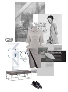 """""""Shadows of Grey"""" by lacas ❤ liked on Polyvore featuring Andrew Marc, WtR London, yoins, yoinscollection and loveyoins"""