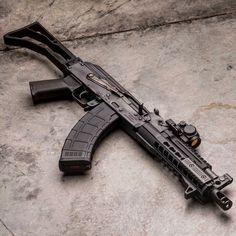 Weapons Guns, Airsoft Guns, Guns And Ammo, Rifles, Ak 47 Tactical, Ak Pistol, Steampunk Weapons, Fire Powers, Military Guns