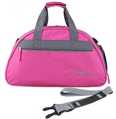 56f40870adc6 MIER 20inch Sports Gym Bag Travel Duffel Bag with Shoes Compartment for  Women and Men Pink