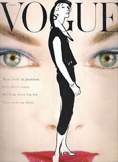 Victoria Von Hagen Dress by Jacques Fath VOGUE October 1952 © Erwin Blumenfeld and in background cover from 1954 Vogue Vintage, Capas Vintage Da Vogue, Vintage Vogue Covers, Vintage Fashion, 1950s Fashion, Vintage Outfits, Jacques Fath, Marie Claire, Pierre Balmain