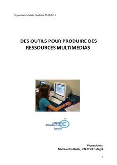 Produire des ressources numériques multimédias : les outils