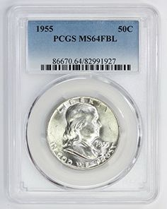 1957 D Silver Franklin Half Dollar MS64 FBL PCGS United States Mint 50c Coin
