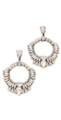 $198 - Noir Jewelry Nightfall Crystal Wreath Earrings - OMG these are to die for!!!!!