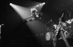David Lee Roth and Eddie Van Halen onstage at the Rainbow in 1978