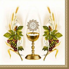 Napkins cm - Chalice with Grapes and Wheat Blue First Communion Cards, Holy Communion Invitations, Première Communion, First Holy Communion, Catholic Pictures, Blessed Sunday, Altar Cloth, Holy Rosary, Religious Cross