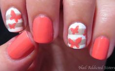 Nail Addicted Sisters: Layered Butterfly