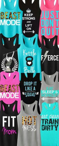 Cute workout shirts!