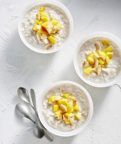 Coconut Rice Pudding ; Top with chopped mango per the recipe, or branch out and try toasted coconut, your favorite toasted nut, or even granola (breakfast, anyone?).