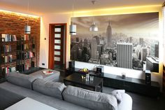 Mały salon - 15 pomysłów od architektów  - zdjęcie numer 3 Couch, Sofa, Home Interior Design, Conference Room, Living Room, Furniture, Home Decor, Salons, Settee