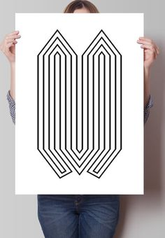 Fancy - Abstract Lines Print