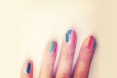 alexa chung diy nail idea