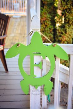 Sea Turtle Monogram Door Hanger