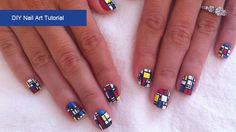 Make your nails into art with this Mondrian-inspired manicure. Photos courtesy of Raquel Olivo