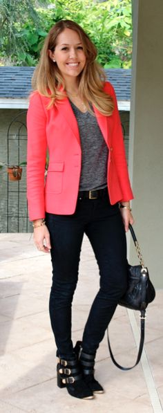 This is how you dress up casual. | Today's Everyday Fashion: Salmon — J's Everyday Fashion