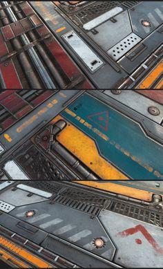 """Metal Painted Pack Test, Alfredo """"Fredo"""" Gutierrez on ArtStation at https://www.artstation.com/artwork/kOyn0"""
