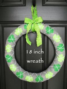 Love this!!!!!! St Patricks Day Wreath
