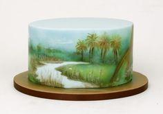Jurassic park painted cake - Cake by Olga Danilova