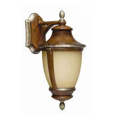Hampton Bay Wall-Mount 1-Light Outdoor Mossoro Walnut Lantern-23218 at The Home Depot