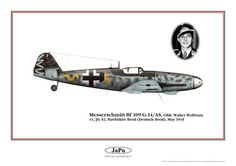 Messerschmitt Bf 109 G-14/AS Oblt. Walter Wolfrum, 11./JG 52, Havlíčkův Brod (Deutsch Brod), May 1945