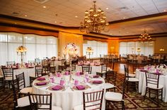 Mission Inn Resort & Club: A Sparkling Plum Wedding   Mahogany Chiavari Chairs, Bling Candelabras.