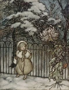 Arthur Rackham: A chrysanthemum heard her...40 by peacay, via Flickr. Some rights reserved by peacay. http://creativecommons.org/licenses/by/2.0/.  http://www.flickr.com/photos/bibliodyssey/5743254620/sizes/z/#