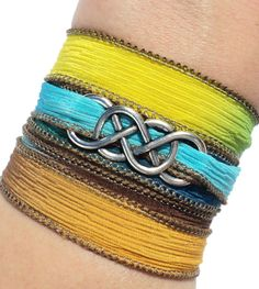 Hey, I found this really awesome Etsy listing at https://www.etsy.com/listing/182039060/infinity-silk-wrap-bracelet-yoga-jewelry