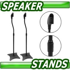 Pair of Black Selby Speaker Stands for Rear/Surround Speakers $34.95
