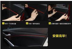 for Mazda 6 atenza,mazda 3 2014,cx-5,Car door decoration trim, Interior sticker 4 colors. 4pcs/lot,free shipping