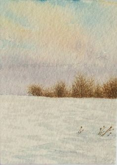 February Sky original watercolour ACEO by HannahCHeyer on Etsy, $17.00