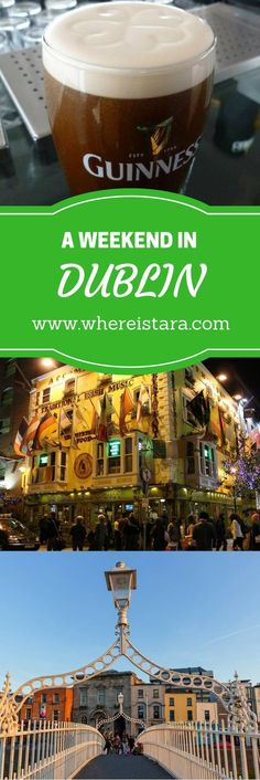 Everything you need to know about the perfect weekend in Dublin, Ireland. From Temple Bar to the Guinness Storehouse and the Ha'Penny Bridge. All from the perspective of a local!