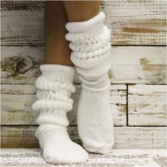 CUDDLY KITTEN slouch socks - white | lace socks | slouch sock | made in usa