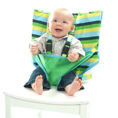 Amazon.com: My Little Seat Infant Travel High Chair, Colored Stripes: Baby