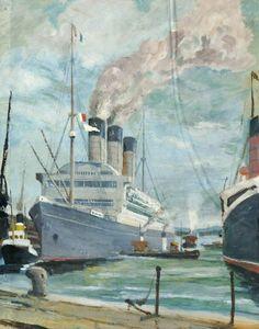 White Star Liner 'Majestic' (1922–1936) Arthur Cozens (1880–1947) Southampton City Museums