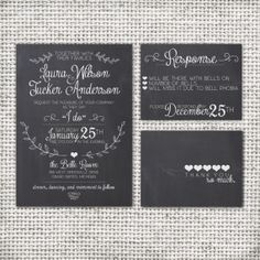 Wedding Invitation Suite Chalkboard  Printable  by SplashOfSilver, $30.00