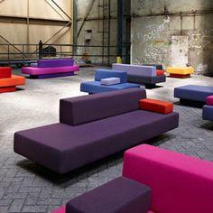 AVL Glyder by Atelier Van Lieshout for Lensvelt - Dezeen Sofa Design, Furniture Design, Interior Design, Sala Vip, Multipurpose Room, Clinic Design, Workspace Inspiration, Contract Furniture, Futuristic Furniture