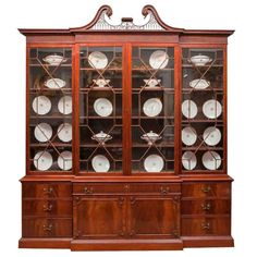 George III Mahogany English Breakfront Bookcase 1                                                                                                                                                                                 More