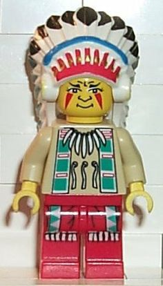 Indian Chief - LEGO Western Minifigure by LEGO. $8.99. A great minifigure to add to your collection. This figure has been retired and was last produced in 2002.