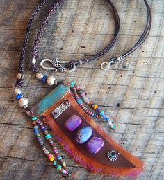 Jasper Glass Hill Tribe Silver and African Beaded by yuccabloom, $75.00