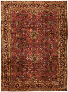 Antique Kashan Persian Rug 2.7×3.7 m. Main Image - By Nazmiyal