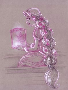 Tangled rapunzel by brianna cherry garcia disney drawing, painting, måla. Disney Rapunzel, Disney Pixar, Deco Disney, Tangled Rapunzel, Disney And Dreamworks, Punk Disney, Tangled 2010, Disney Facts, Disney Artwork