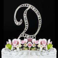 Vintage ~ Swarovski Crystal Wedding Cake Topper ~ Letter D > Amazing deals just a click away : Baking decorations
