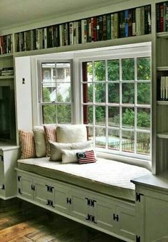 Perhaps lovely to look at, but not really an inviting space. Nowhere to lean back with a book. Better if the side windows were solid walls OR no window box at all.