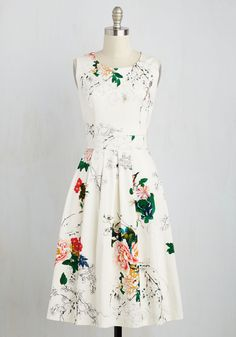 Spring Dresses - Executive Branches Dress in Ivory