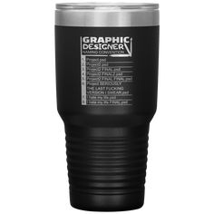 Graphic Designer Naming Convention Gift Idea Coffee Tumbler 30 oz