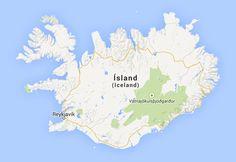 Island Reiseführer iceland.de: Interaktive Landkarte