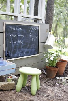 "How to set up a backyard ""exploration station"" in 5 easy steps - I think I just found our weekend project"